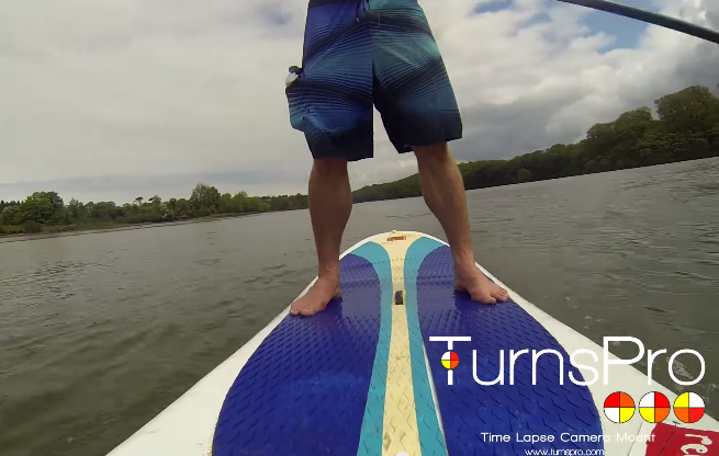 TurnsPro on a SUP