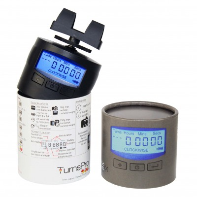 TurnsPro in box with mobile phone clip