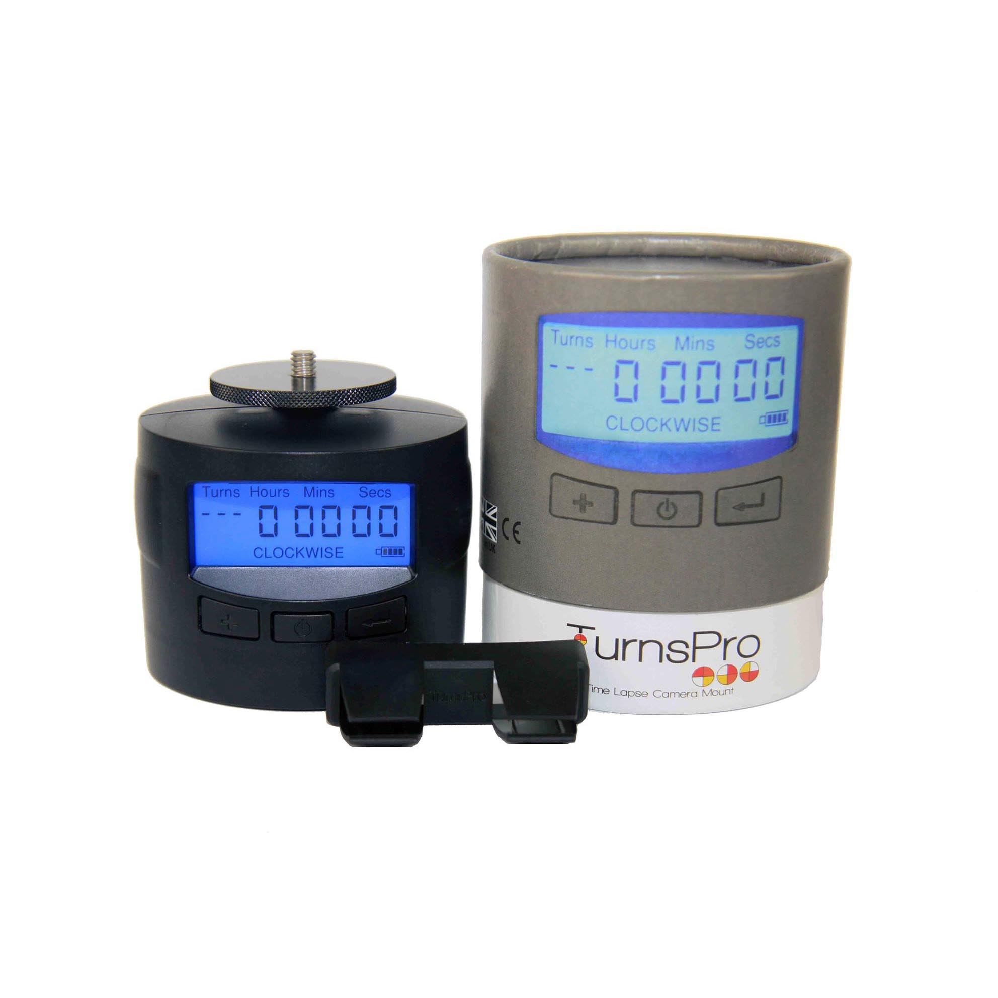 TurnsPro with box and mobile clip