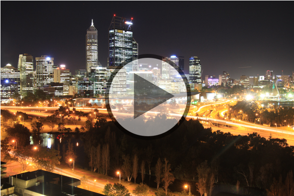 Timelapse over Perth